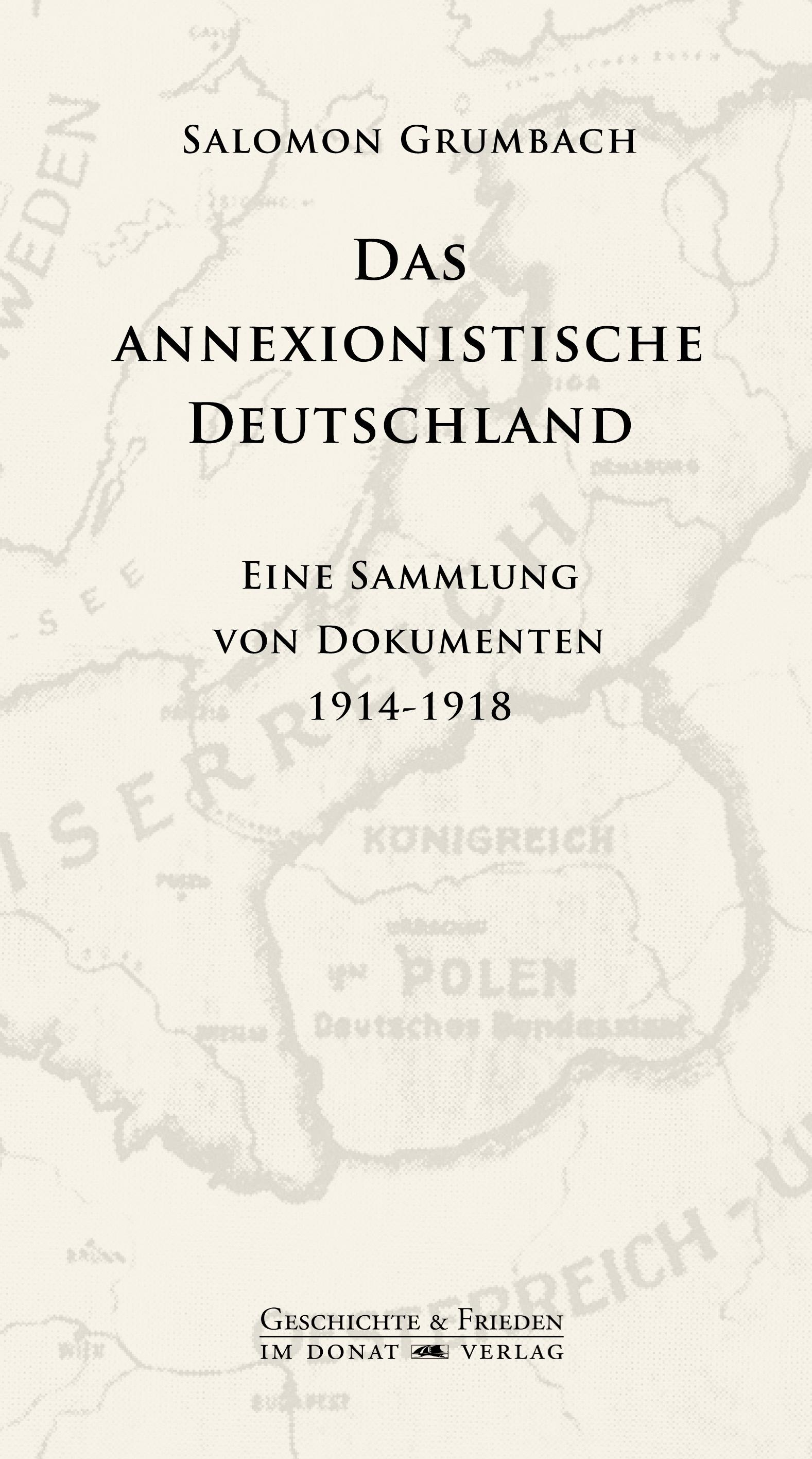 Das annexionistische Deutschland